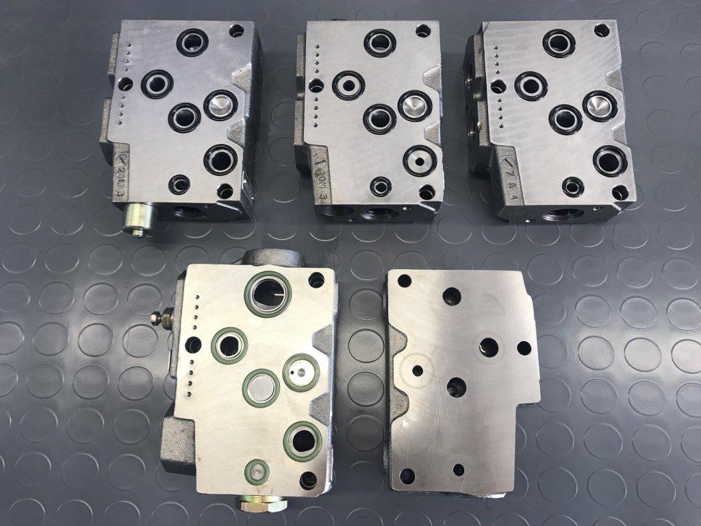 sekcje rozdzielacza hydraulicznego do wózka widłowego Linde